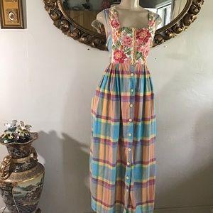 April Cornell Garden Floral Cotton Dress